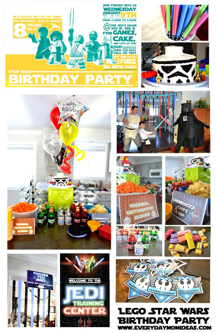 Everyday Mom Ideas: Star Wars Lego Birthday Party