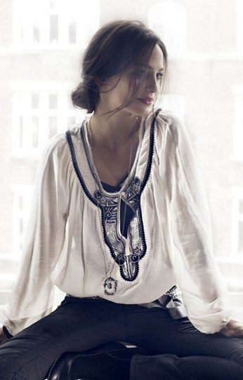 the blouse.