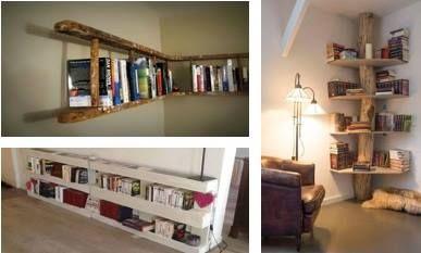 Avec des objets de récupération vous pouvez créer vous même votre propre bibliothèque sans dépenser vos sous!
