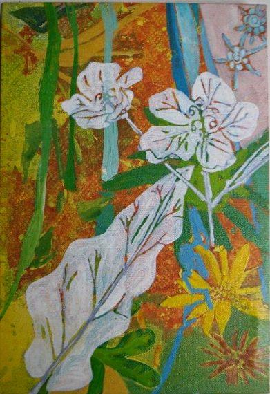 ENLIGHTENED FLOWERS I / FLORES ILUMINADAS, JU BARROS ART BRAZIL