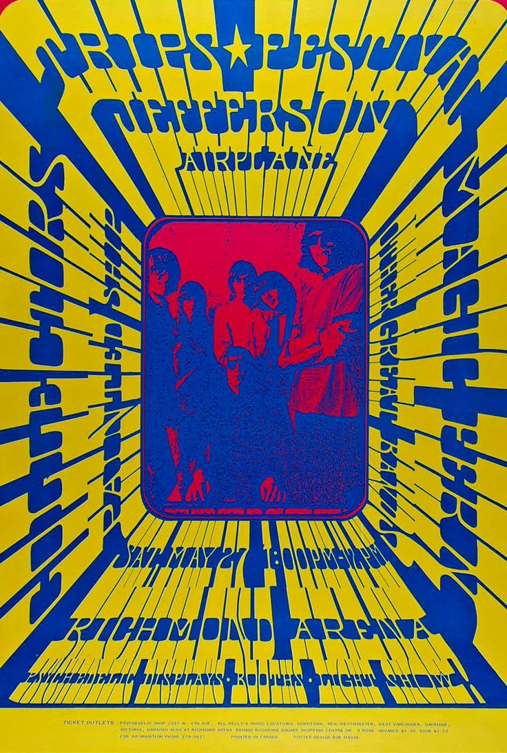 Jefferson Airplane at the Vancouver Trips Festival, May 27, 1967. Poster by Bob Masse