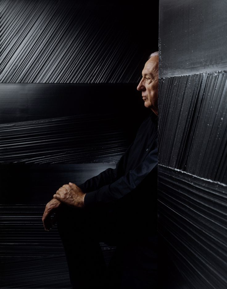 The Creators.Pierre Soulages.French painter, engraver, and sculptor