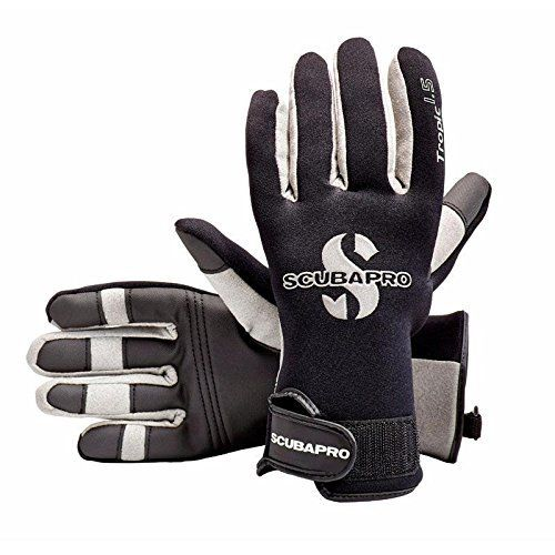 ScubaPro Tropic 1.5mm Scuba Diving Gloves (Black/White/Grey, X-Large) by Scubapro. ScubaPro Tropic 1.5mm Scuba Diving Gloves (Black/White/Grey, X-Large). X-Large.