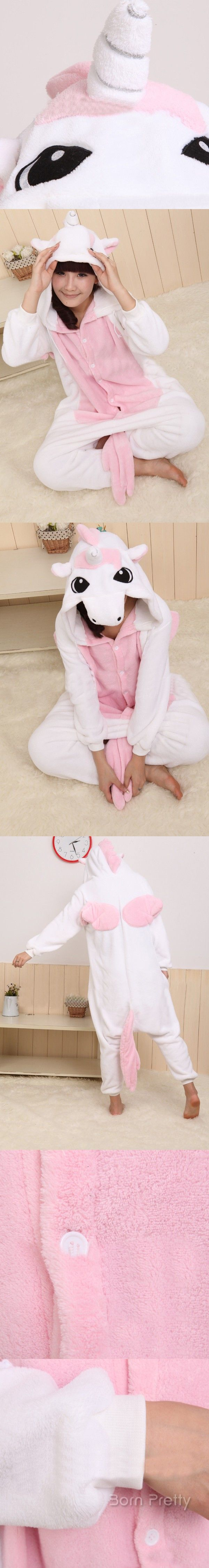 One-piece Unicorn Patterned Kigurumi Pajamas Cosplay Costume - BornPrettyStore.com