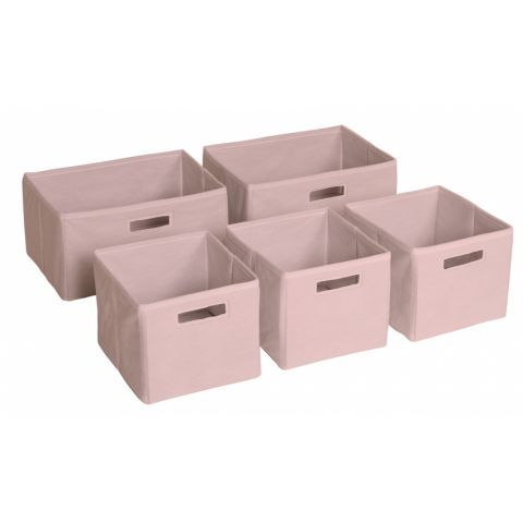 Pastel pink storage bins. £36.99 #WorldStores, #storage, #pink http://www.worldstores.co.uk/p/Pink_Storage_Bins.htm
