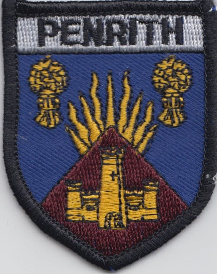 Penrith Cumbria County Flag Embroidered Patch Badge