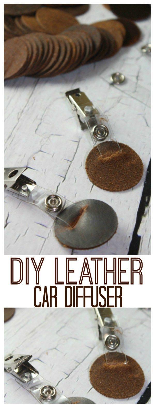 DIY Leather Car Diffuser