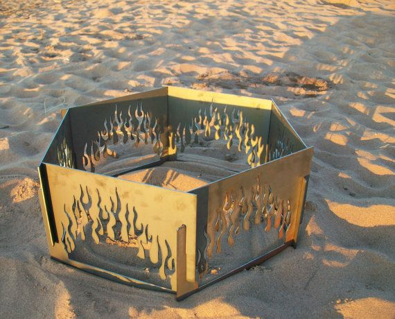 Decorative Portable Metal Fire Pit Flame by CopperTreeDesign