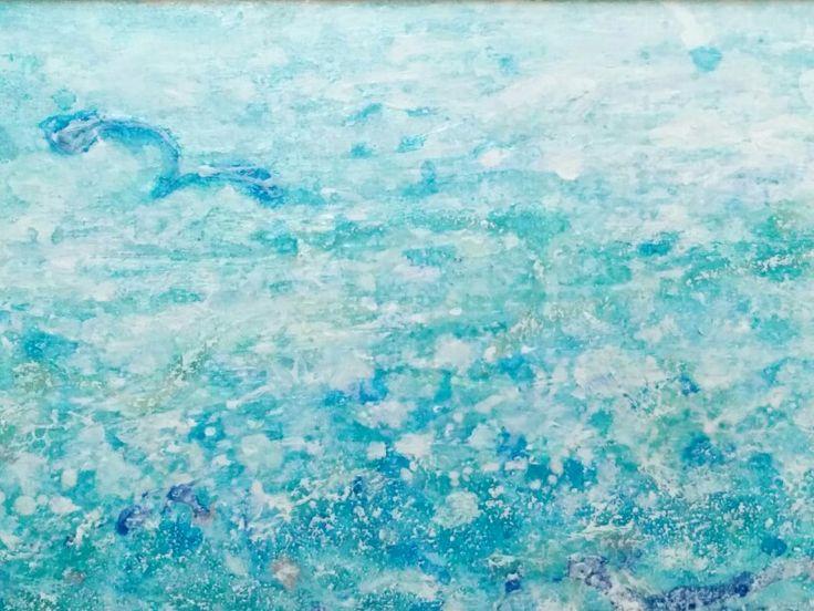 Summer line  oil paint 18×48cm