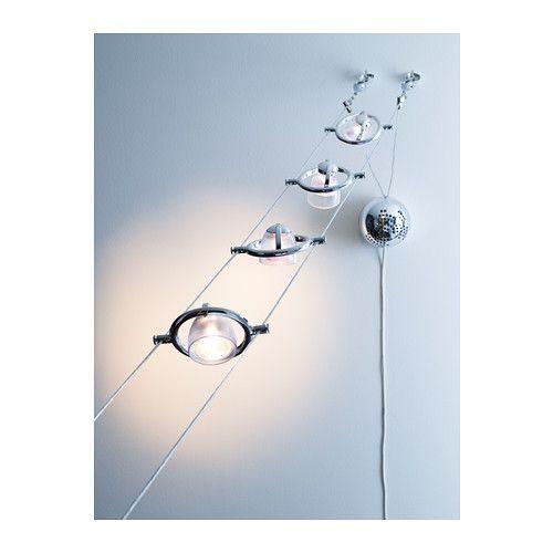 TERMOSFÄR Sistema a basso voltaggio/5 faretti IKEA Diffusore del faretto orientabile e regolabile.