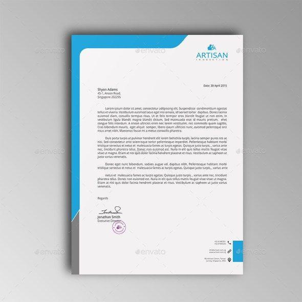 mẫu letterhead