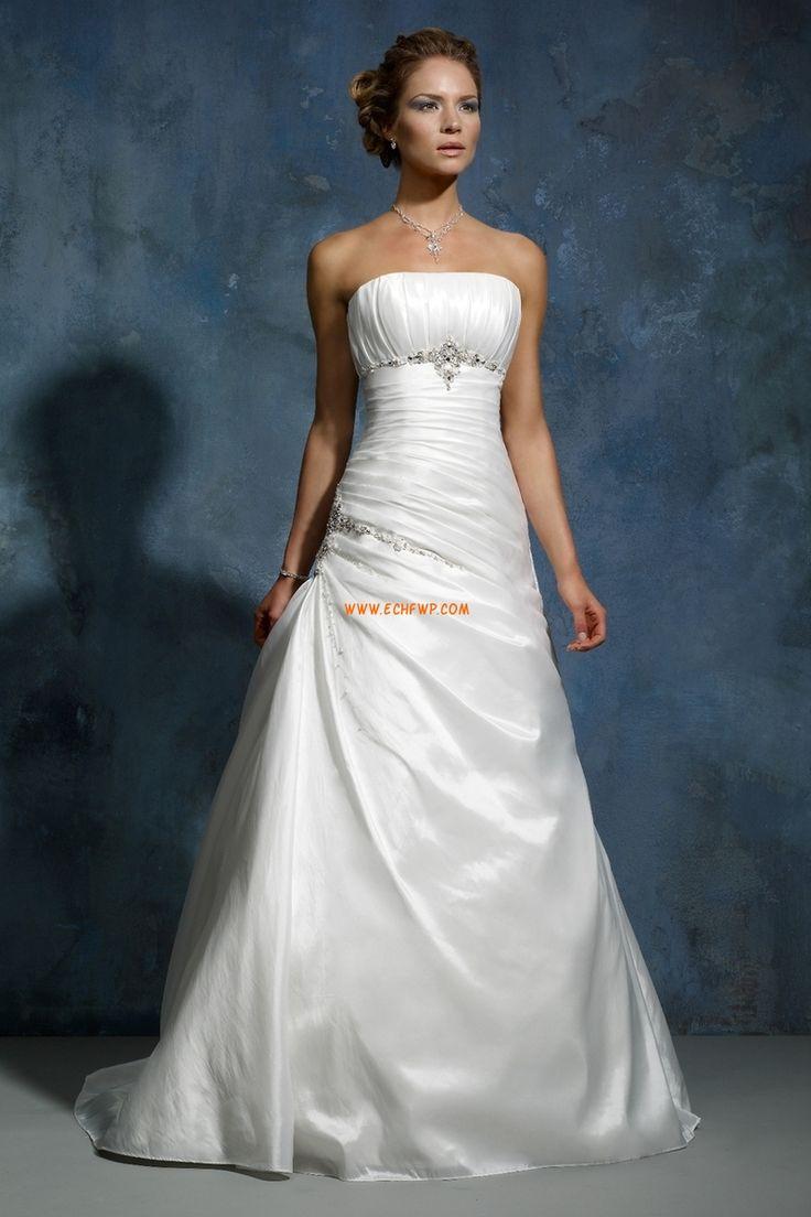 Délka dvorní Šněrování Empírové Luxusní svatební šaty