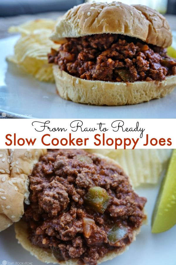 Slow Cooker Sloppy Joes From Raw To Ready Recipe Slow Cooker Sloppy Joes Delicious Slow Cooker Recipes Crockpot Recipes Slow Cooker