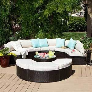 Every outdoor party needs furniture that's as chic as it is cozy. Check out these trendy finds and get the party started outside! #outdoorfurniture #patiofurniture #patio #adirondack
