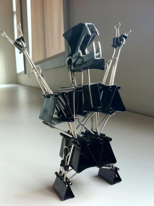 COLLATE! DESTROY!: One Day, Offices Boredom, Funny, The Offices, Desks, Offices Art, Binder Clip, Monsters, Offices Supplies