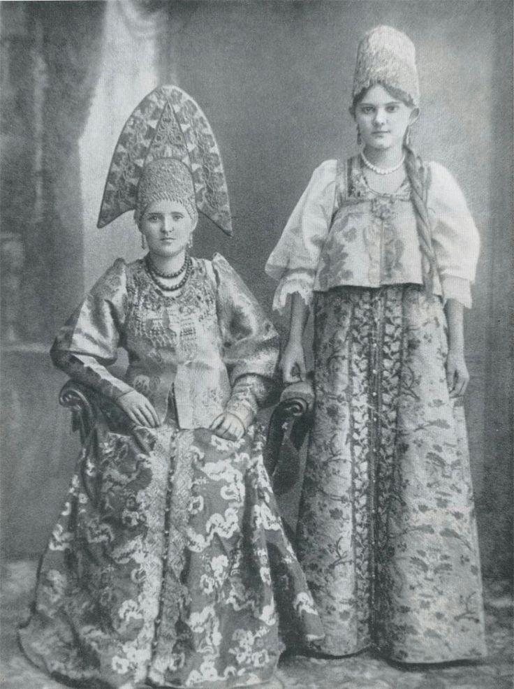 Женщины из семьи купца. Городец, Нижний Новгород. Конец XIX века.