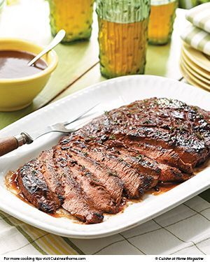 Fire up the grill this weekend for this mouth-watering BBQ Flank Steak and homemade Whiskey Cola BBQ Sauce.