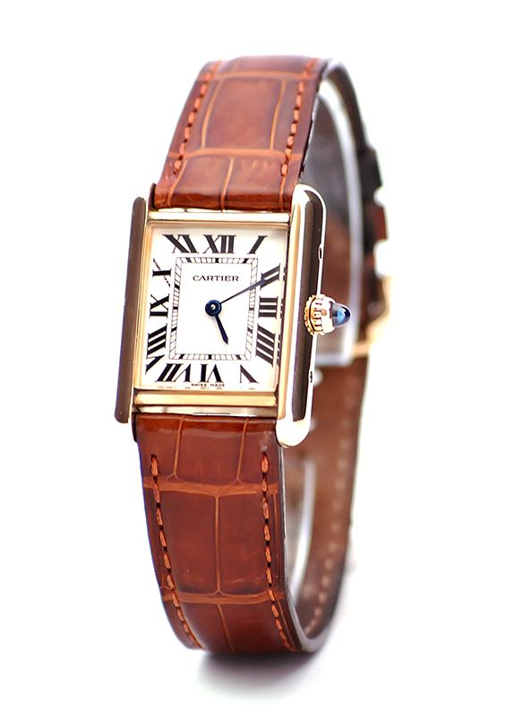 Louis Cartier tank. My favourite model with the blue diamond on the crown