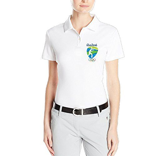 OKGOO Womens Boxing Logo Rio Olympics 2016 Polo Shirt *** Click on the image for additional details.