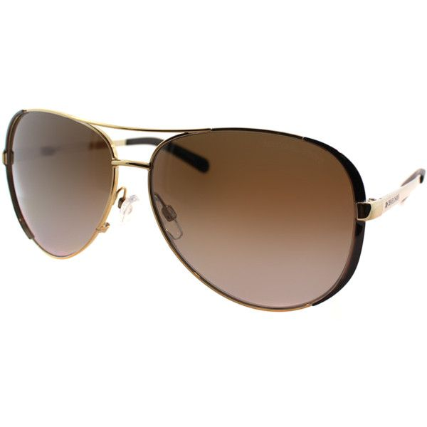 Michael Kors Chelsea Pilot Metal Sunglasses   Bluefly.Com (730 HKD) ❤ liked on Polyvore featuring accessories, eyewear, sunglasses, gold and black, michael kors, michael kors sunglasses, michael kors glasses, metal sunglasses and black gold sunglasses