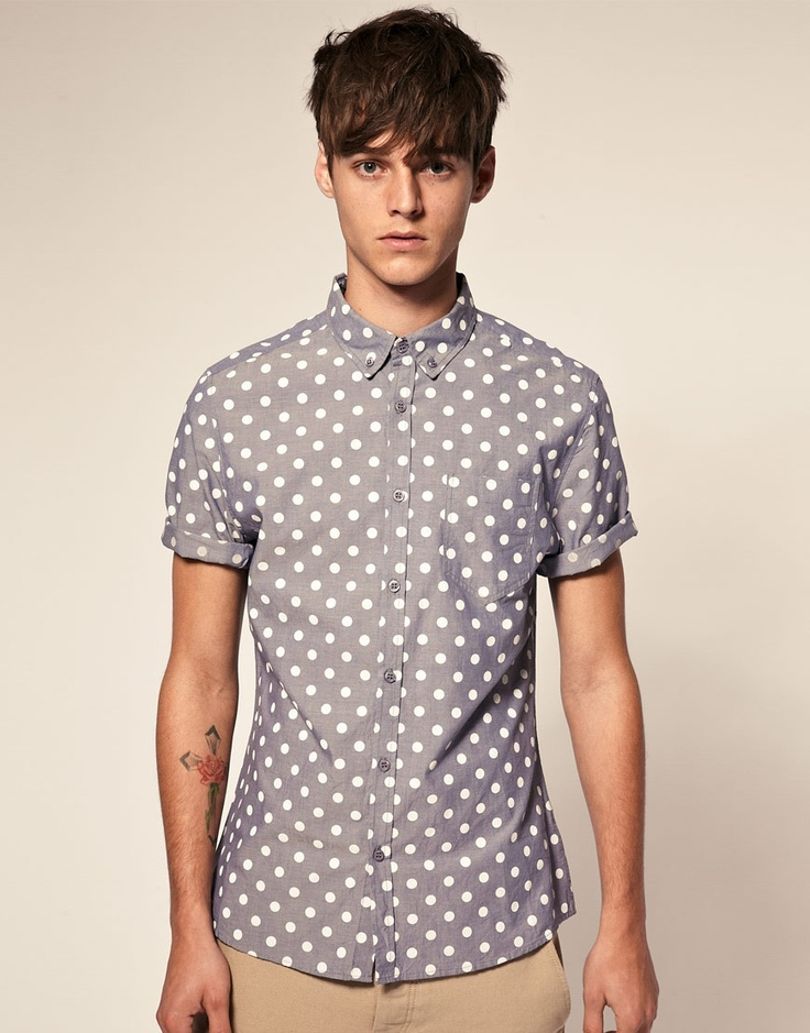 Polka dot chambray shirt from ASOS