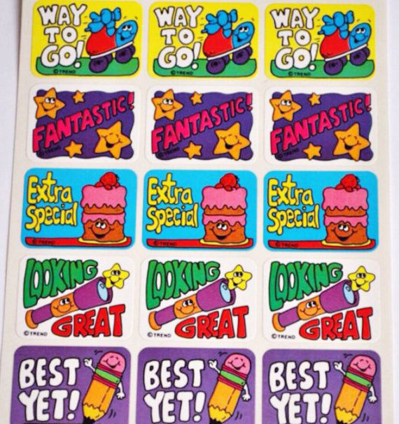 Vintage trend sniff stickers