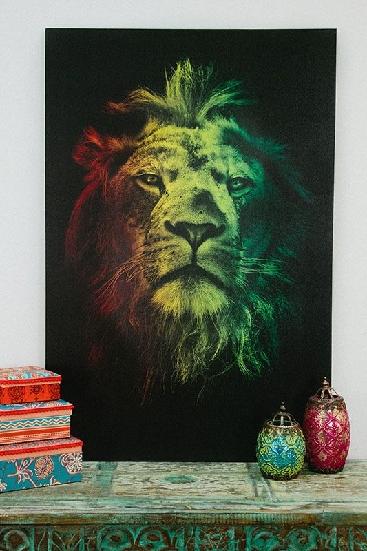 "Rasta Lion Canvas Art, 24""x36"" // Earthbound Trading Co."