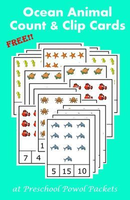 Ocean+Animals+Count+&+Clip+Cards+from+PreschoolPowolPackets+on+TeachersNotebook.com+-++(6+pages)++-+Count+the+cute+ocean+animals+and+clip+the+right+number+with+a+clothes+pin+or+paper+clip!!++Numbers+1-20!