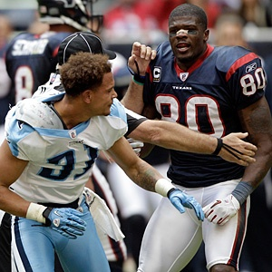 Andre Johnson showing Cortland Finnegan what's up.