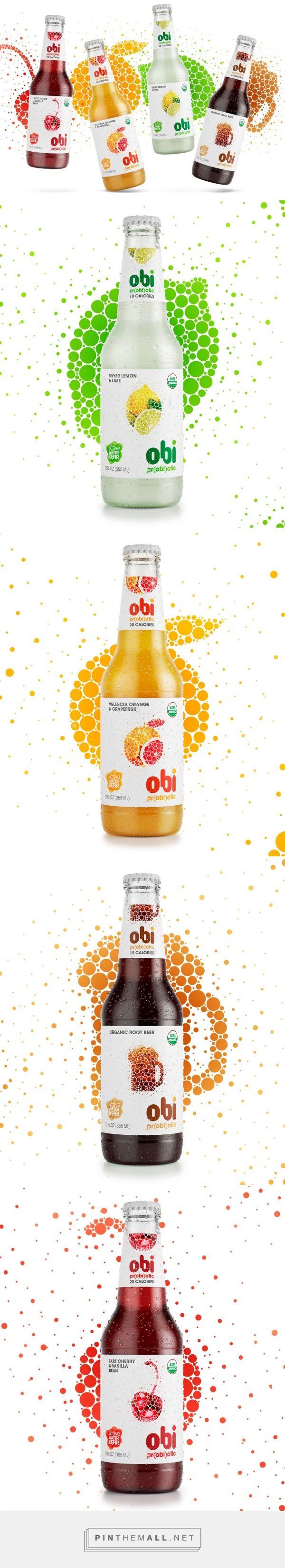 Lovely bubbles on Obi Pr(obi)otic Soda label - design by The Creative Method - http://www.packagingoftheworld.com/2016/05/obi-probiotic-soda.html