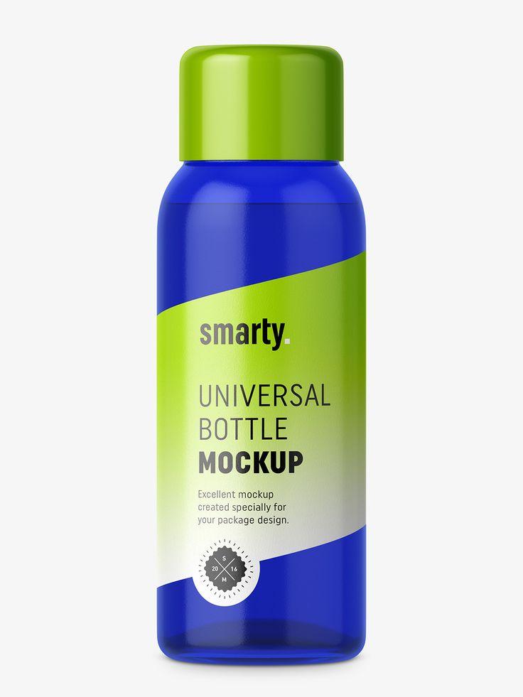 30 ml bottle mockup / cobalt