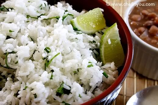 Cilantro Lime Rice by chefinyou: Only takes 3 ingredients and 10-15 minutes to cook. #Rice #Cilantro_Lime_Rice