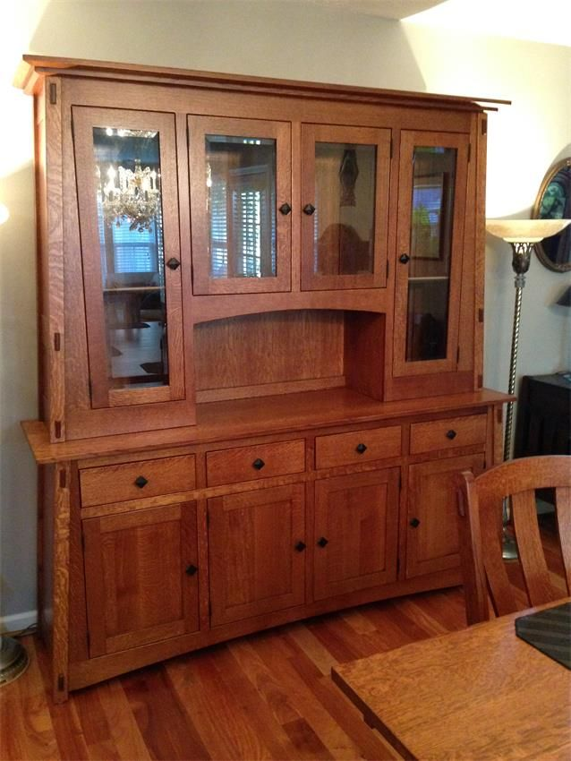 Amish mccoy hutch with four doors home amish and furniture for Wood hutch plans