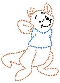Winnie de pooh-Roe klein   Winnie de Pooh en vrienden   glittermotifs hotfix patroon