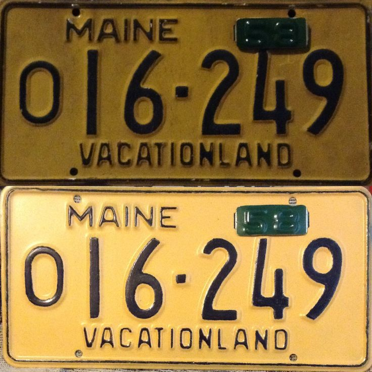 1958 License Plate Collection And Restoration Maine