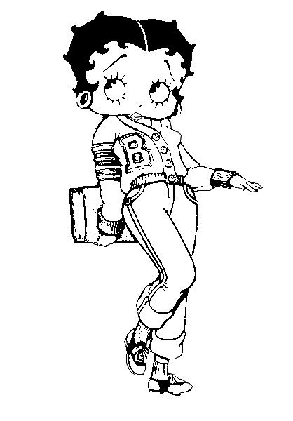betty boop birthday coloring pages - photo#11