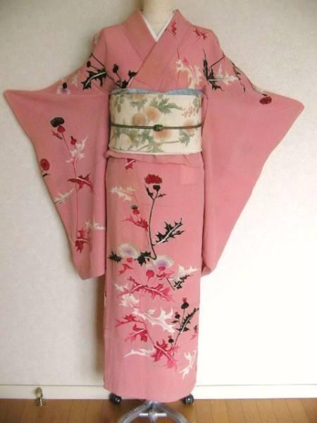 azami kimono and obi