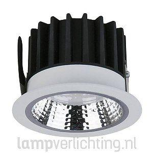 Dimbare led downlight IP44 van Artecta met een warmwitte lichtkleur (kleurtemperatuur). #downlight #kantoorverlichting #winkelverlichting #inbouwspots #ledspots #dimbaar
