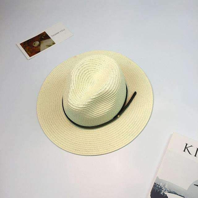 2017 Spring Summer Hats For Women Wide Brimmed Panama Cap Chapeu Sun Hat Male Female Men's Straw Jazz Caps Beach Stetson Hats