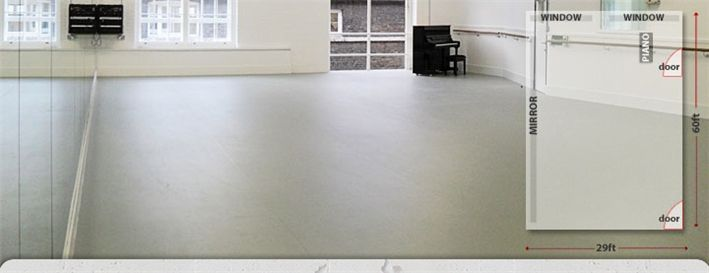 Pineapple Dance Studios - Studio 9 - in the heart of Covent Garden, London - we often hold Dance Teacher Sessions here - great location and we love the staff here too x
