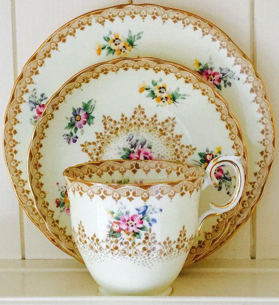 Pretty Vintage Crown Staffordshire English Fine by CTilstonandCo