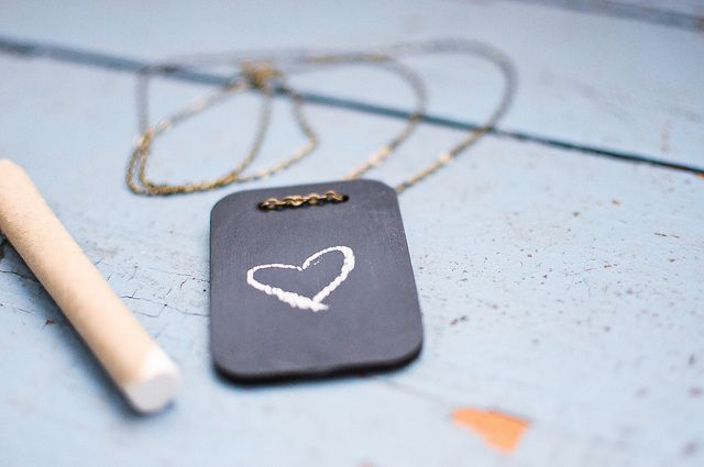 Mini blackboard necklace by Killside Krafts | Flickr - Photo Sharing!