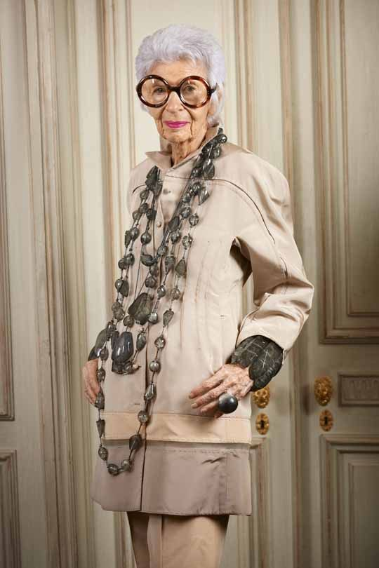 Iris Apfel. A gentle reminder to self that being age appropriate is grossly overrated. :)