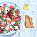 Roodlofsalade+recept+++mozzarella+&+bloedsinaasappel