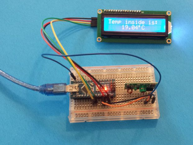 Arduino weather station with rf mhz modules pictures