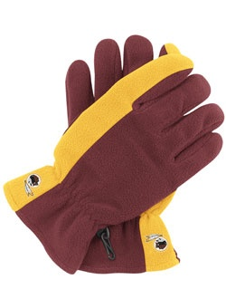 Keep your hands warm and toasty with the #Redskins NFL colorblock fleece gloves.