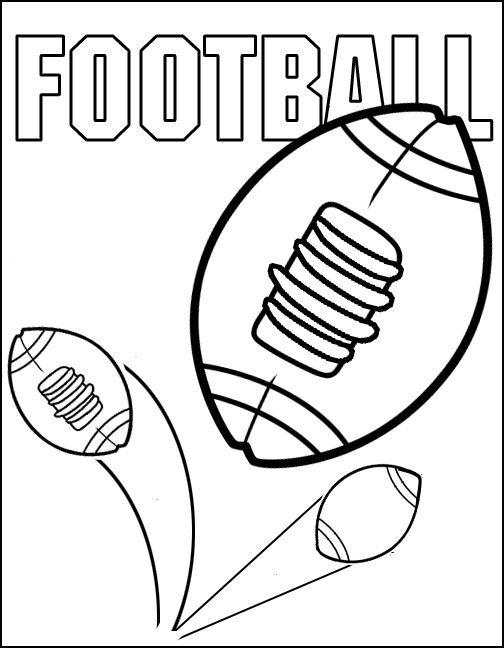 football coloring sheets for kids - Printable Coloring Pages Football