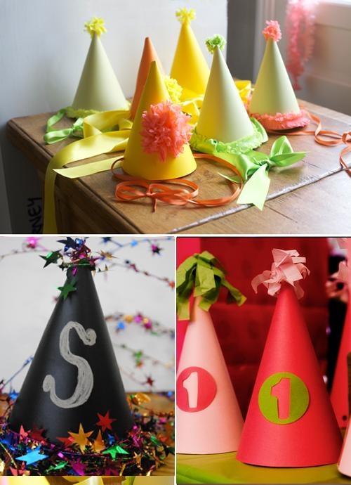 DIY, gorros y más gorros para fiestas infantiles