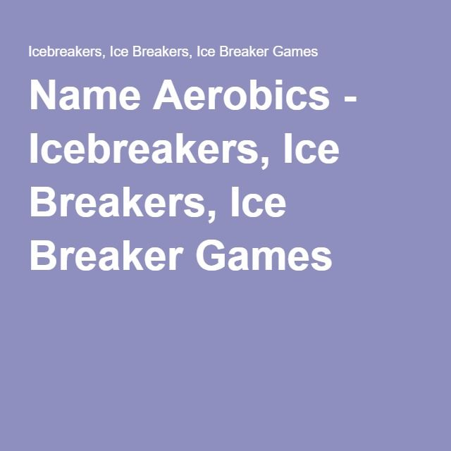 Group games, team games, ice breakers - How to play ...