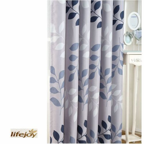 Blockout Eyelet Curtains Country Style Leaves Bedroom Study Lounge Floral Grey